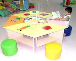 Bộ bàn ghế thư viện lục giác