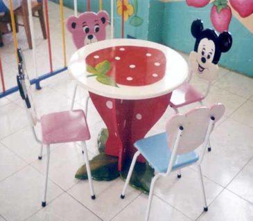 Bộ bàn ghế trái dâu