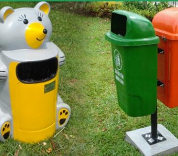 thùng rác mầm non