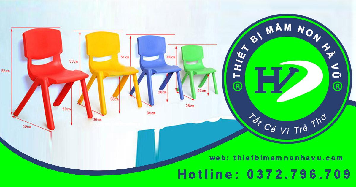 Kích thước chuẩn bàn ghế mầm non